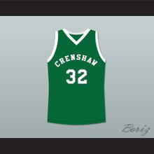 Monica Wright 32 Crenshaw High School Green Basketball Jersey Love and Basketball