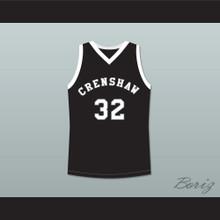 Monica Wright 32 Crenshaw High School Black Basketball Jersey Love and Basketball