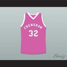 Monica Wright 32 Crenshaw High School Pink Basketball Jersey Love and Basketball