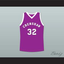 Monica Wright 32 Crenshaw High School Purple Basketball Jersey Love and Basketball