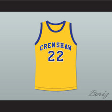 Quincy McCall 22 Crenshaw High School Yellow Basketball Jersey Love and Basketball