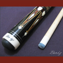 Boriz Billiards Laminated Snake Skin Grip Pool Cue Stick Original Inlay Artwork 025