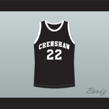 Quincy McCall 22 Crenshaw High School Black Basketball Jersey Love and Basketball