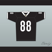 Jimmy Sanderson 88 Miami Sharks White Trim Football Jersey Any Given Sunday Includes AFFA Patch
