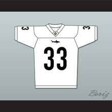 Julian Washington 33 Miami Sharks White Football Jersey Any Given Sunday Includes AFFA Patch