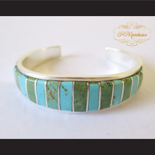 P Middleton Turquoise Cuff Bracelet Sterling Silver .925 with Semi-Precious Stones