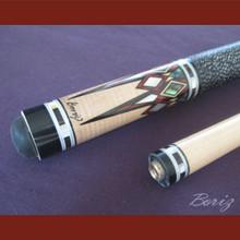 Boriz Billiards Linen Grip Pool Cue Stick Original Inlay Artwork 043