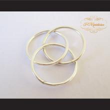 P Middleton Triple Intercross Vesica Piscis Ring Sterling Silver .925