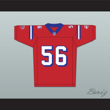 Jon Favreau Daniel Bateman 56 Washington Sentinels Home Football Jersey The Replacements Includes League Patch 2