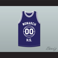 Duane Martin Kyle Lee Watson 00 Monarch High School Blue Practice Basketball Jersey Above The Rim