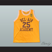 The Fresh Prince of Bel-Air Alfonso Ribeiro Carlton Banks Bel-Air Academy Home Basketball Jersey Includes School Emblem Patch