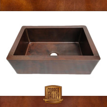 Copper Valley Farmhouse Sink 14 Gauge Smooth Finish Kitchen Sink