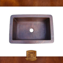 Copper Valley Farmhouse Sink 16 Gauge Self Rimming Copper Kitchen Sink
