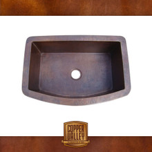 Copper Valley Farmhouse Sink 16 Gauge Curved Self Rimming Copper Kitchen Sink