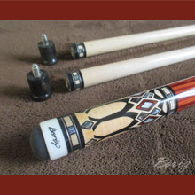 Boriz Billiards Pro Series 1 Malaysian Redwood Grip w/ Pool Cue Joint Protectors