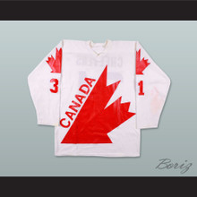 1976 Gerry Cheevers 31 Canada Cup Hockey Jersey