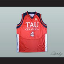 Luis Scola 4 Tau Ceramica Basketball Jersey