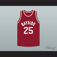 Saved By The Bell Zack Morris 25 Bayside Tigers Basketball Jersey Away