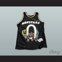Monstars 0 Black Basketball Jersey Space Jam