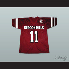 Scott McCall 11 Beacon Hills Cyclones Lacrosse Jersey Teen Wolf Includes Patch