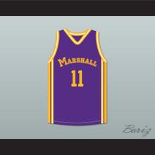 Arthur Agee 11 John Marshall Metropolitan High School Commandos Purple Basketball Jersey Hoop Dreams