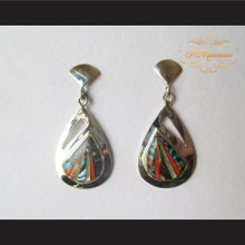 P Middleton Teardrop Design Earrings Sterling Silver .925