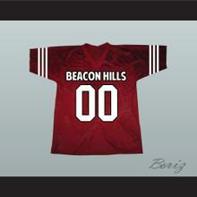 Derek Hale 00 Beacon Hills Cyclones Maroon Lacrosse Jersey Teen Wolf