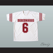 Danny Mahealani 06 Beacon Hills Cyclones White Lacrosse Jersey Teen Wolf