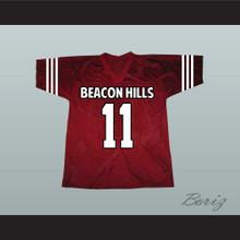 Scott McCall 11 Beacon Hills Cyclones Maroon Lacrosse Jersey Teen Wolf