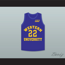 Anfernee Hardaway Butch McRae 22 Western University Blue Basketball Jersey with Blue Chips Patch