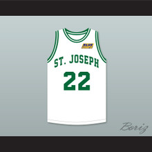 Anfernee Hardaway Butch McRae 22 St Joseph High School White Basketball Jersey with Blue Chips Patch