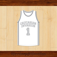 Caucasian Invasion Cold Ass Honky 1 Basketball Jersey by Morrissey&Macallan