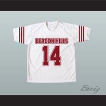 Isaac Lahey 14 Beacon Hills Cyclones White Lacrosse Jersey Teen Wolf