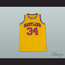 Len Bias 34 Maryland Yellow Basketball Jersey