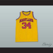 Len Bias 34 Maryland Yellow Basketball Jersey