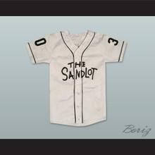 Mike Vitar Benny 'The Jet' Rodriguez 30 Baseball Jersey The Sandlot