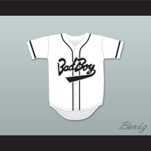 Biggie Smalls 10 Bad Boy White Baseball Jersey