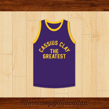 Boxer Cassius Clay/Muhammad Ali Purple Boxing Jersey by Morrissey&Macallan