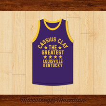 Boxer Cassius Clay/Muhammad Ali Louisville, Kentucky Purple Boxing Jersey by Morrissey&Macallan