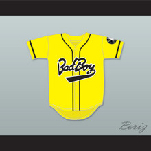 Biggie Smalls 10 Bad Boy Yellow Baseball Jersey Includes Patch