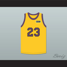 Martin Payne 23 Yellow Basketball Jersey with Martin Patch