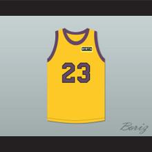 Martin Payne 23 Yellow Basketball Jersey with Martin Patch