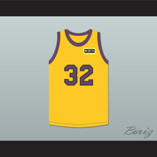 Air Gordon 32 Yellow Basketball Jersey with Martin Patch