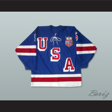 1960 Herb Brooks 5 USA Hockey Jersey with Patch