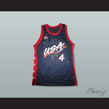 1996 Charles Barkley 4 USA Team Away Basketball Jersey