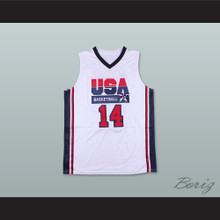Charles Barkley 14 USA Team Home Basketball Jersey