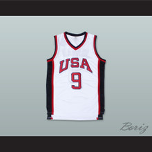 1984 Michael Jordan 9 USA Team Home Basketball Jersey