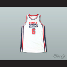 1992 Patrick Ewing 6 USA Team Home Basketball Jersey