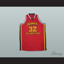 Lebron James 32 McDonald's High School All American Red Basketball Jersey