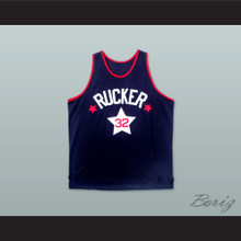 1975 Rucker Park NYC 32 Dark Blue Basketball Jersey
